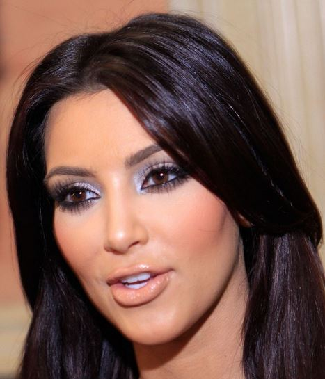 Dark Hair Color for <b>Brown Eyes</b> - Kim-Kardashian-brown-eyes