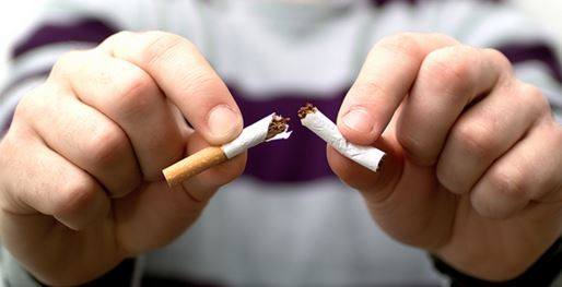 Quit smoking to stop a scratchy throat