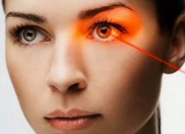 Laser surgery to change eye color permanently